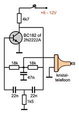Schema van de Twin-T-oscillator
