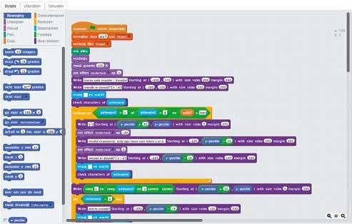 Hoe een Scratch-programma eruit kan zien