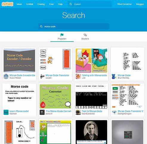 Voorbeelden van morseprogramma's in Scratch