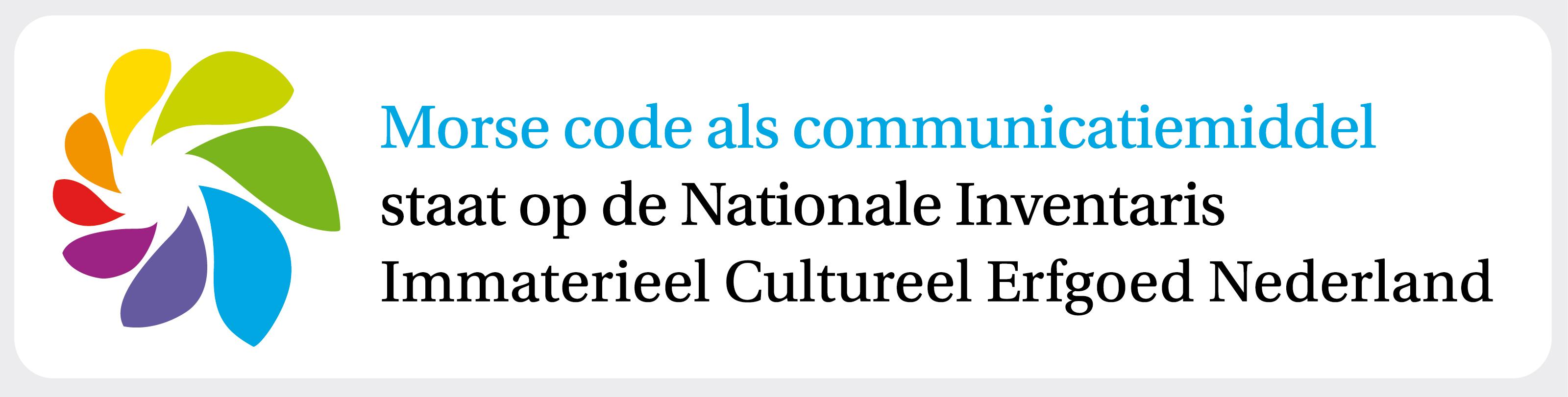 Dankzij de inspanningen van de VERON staat morsecode op de Nationale Inventaris Immaterieel Cultureel Erfgoed.